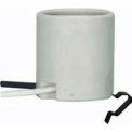 Satco 80-1222 Keyless Unglazed Porcelain Socket w/ 3/8-in. Snap-in Clip