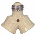 Satco 90-2465 Single to Twin Lampholder  Ivory