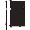 Screenflex 5'H Door - Mounted to End of Room Divider - Charcoal Black