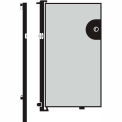 Screenflex 5'H Door - Mounted to End of Room Divider - Grey Stone