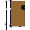 Screenflex 5'H Door - Mounted to End of Room Divider - Vinyl-Sandalwood
