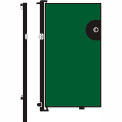 Screenflex 6'H Door - Mounted to End of Room Divider - Green
