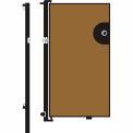 Screenflex 6'H Door - Mounted to End of Room Divider - Vinyl-Sandalwood