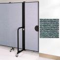 "Screenflex 6'8""H Door - Mounted to End of Room Divider - Mallard"