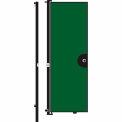 Screenflex 8'H Door - Mounted to End of Room Divider - Mallard