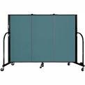 "Screenflex 3 Panel Portable Room Divider, 4'H x 5'9""L, Fabric Color: Lake"