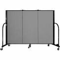 "Screenflex 3 Panel Portable Room Divider, 4'H x 5'9""L, Fabric Color: Stone"