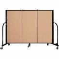 "Screenflex 3 Panel Portable Room Divider, 4'H x 5'9""L, Fabric Color: Desert"