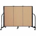 "Screenflex 3 Panel Portable Room Divider, 4'H x 5'9""L, Fabric Color: Sand"