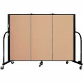"Screenflex 3 Panel Portable Room Divider, 4'H x 5'9""L, Fabric Color: Wheat"