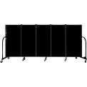 "Screenflex 5 Panel Portable Room Divider, 4'H x 9'5""L, Fabric Color: Charcoal Black"