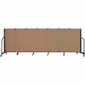 "Screenflex 7 Panel Portable Room Divider, 4'H x 13'1""L Fabric Color: Beech"