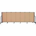 "Screenflex 7 Panel Portable Room Divider, 4'H x 13'1""L Fabric Color: Sand"