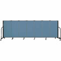 "Screenflex 7 Panel Portable Room Divider, 4'H x 13'1""L Fabric Color: Blue"