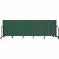 "Screenflex 7 Panel Portable Room Divider, 4'H x 13'1""L Fabric Color: Green"