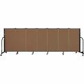 "Screenflex 7 Panel Portable Room Divider, 4'H x 13'1""L Fabric Color: Oatmeal"