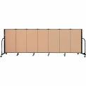 "Screenflex 7 Panel Portable Room Divider, 4'H x 13'1""L Fabric Color: Wheat"