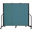 "Screenflex 3 Panel Portable Room Divider, 5'H x 5'9""L, Fabric Color: Lake"