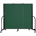 "Screenflex 3 Panel Portable Room Divider, 5'H x 5'9""L, Fabric Color: Mallard"
