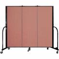 "Screenflex 3 Panel Portable Room Divider, 5'H x 5'9""L, Fabric Color: Cranberry"