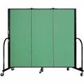 "Screenflex 3 Panel Portable Room Divider, 5'H x 5'9""L, Fabric Color: Sea Green"