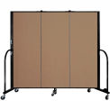"Screenflex 3 Panel Portable Room Divider, 5'H x 5'9""L, Fabric Color: Beech"