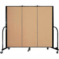 Screenflex 3 Panel Portable Room Divider, 5'H x 5'9