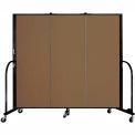 "Screenflex 3 Panel Portable Room Divider, 5'H x 5'9""L, Fabric Color: Oatmeal"