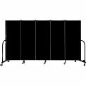 "Screenflex 5 Panel Portable Room Divider, 5'H x 9'5""L, Fabric Color: Charcoal Black"