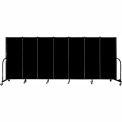 "Screenflex 7 Panel Portable Room Divider, 5'H x 13'1""L, Fabric Color: Charcoal Black"