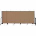 "Screenflex 7 Panel Portable Room Divider, 5'H x 13'1""L, Fabric Color: Beech"