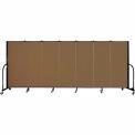 "Screenflex 7 Panel Portable Room Divider, 5'H x 13'1""L, Fabric Color: Oatmeal"