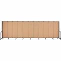 "Screenflex 11 Panel Portable Room Divider, 6'H x 20'5""L, Fabric Color: Desert"