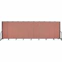 "Screenflex Portable Room Divider - 11 Panel - 6'H x 20'5""L -  Cranberry"