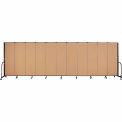 "Screenflex Portable Room Divider - 11 Panel - 6'H x 20'5""L -  Sand"