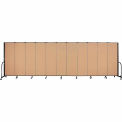 "Screenflex 11 Panel Portable Room Divider, 6'H x 20'5""L, Fabric Color: Wheat"