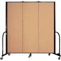 "Screenflex 3 Panel Portable Room Divider, 6'H x 5'9""L, Fabric Color: Desert"