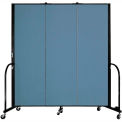 "Screenflex 3 Panel Portable Room Divider, 6'H x 5'9""L, Fabric Color: Summer Blue"