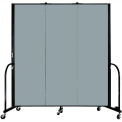 "Screenflex Portable Room Divider - 3 Panel - 6'H x 5'9""L -  Grey Stone"