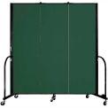 "Screenflex Portable Room Divider - 3 Panel - 6'H x 5'9""L -  Green"