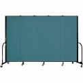 "Screenflex Portable Room Divider - 5 Panel - 6'H x 9'5""L -  Lake"