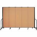 "Screenflex Portable Room Divider - 5 Panel - 6'H x 9'5""L -  Sand"