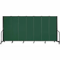 "Screenflex Portable Room Divider - 7 Panel - 6'H x 13'1""L - Mallard"