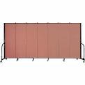 "Screenflex Portable Room Divider - 7 Panel - 6'H x 13'1""L - Cranberry"