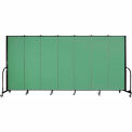 "Screenflex Portable Room Divider - 7 Panel - 6'H x 13'1""L - Sea Green"
