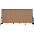 "Screenflex Portable Room Divider - 7 Panel - 6'H x 13'1""L - Beech"