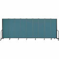 "Screenflex Portable Room Divider - 9 Panel - 6'H x 16'9""L - Lake"