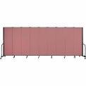 "Screenflex 9 Panel Portable Room Divider, 6'H x 16'9""L, Fabric Color: Rose"