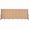 "Screenflex 9 Panel Portable Room Divider, 6'H x 16'9""L, Fabric Color: Desert"