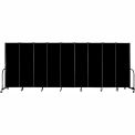 "Screenflex 9 Panel Portable Room Divider, 6'H x 16'9""L, Fabric Color: Charcoal Black"